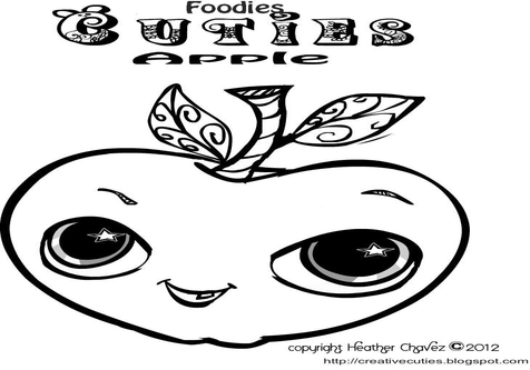 476x333 Foodies Cuties Coloring Pages Healthy Treats Can Be Sweet And Even