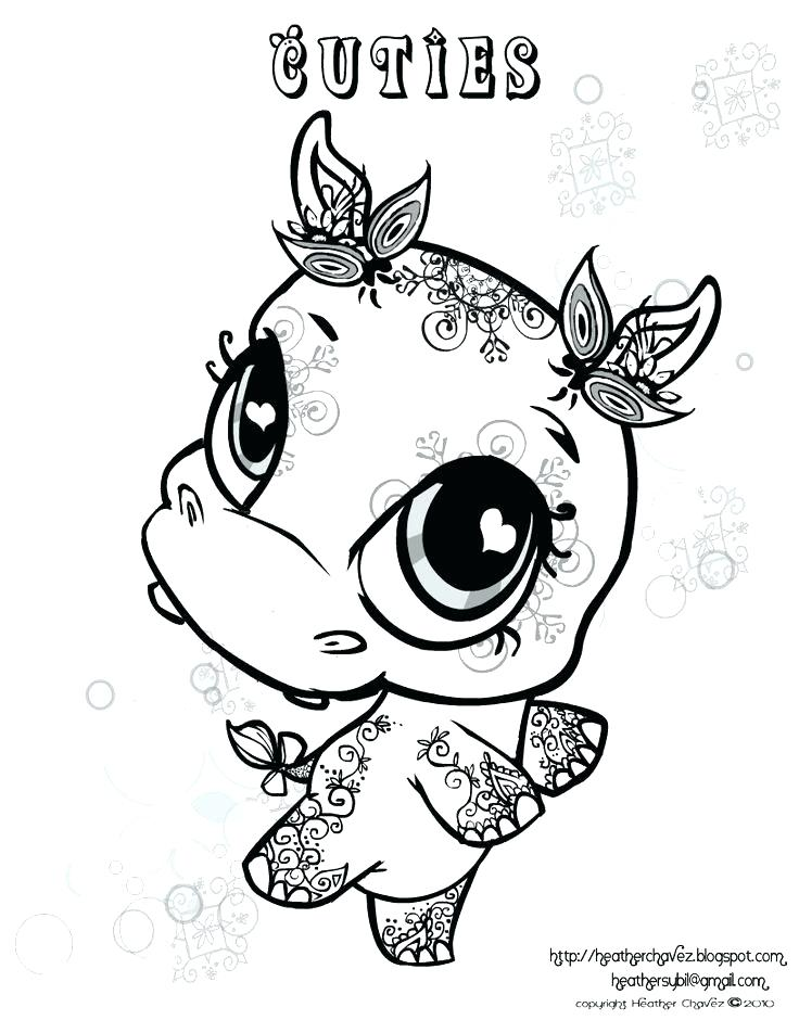 736x952 Hippo Coloring Page Hippopotamus Coloring Page Vector Of A Cartoon