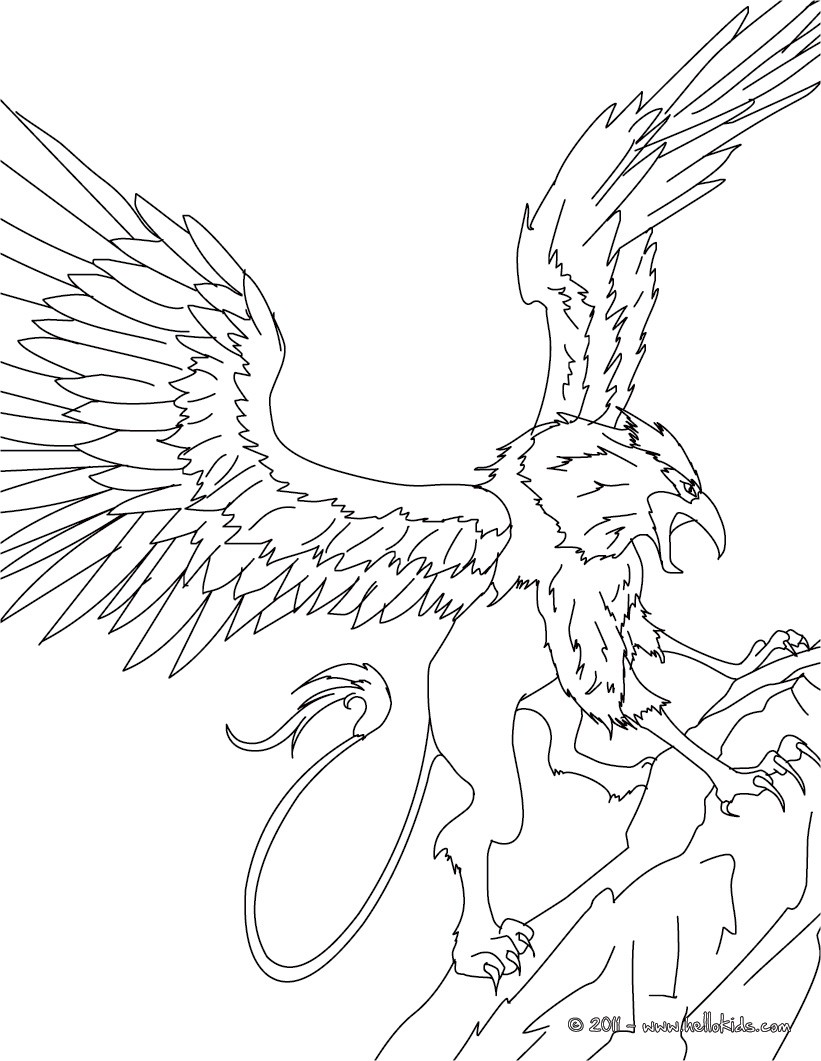 821x1061 Griffin The Majestic And Powerful Creature Coloring Pages