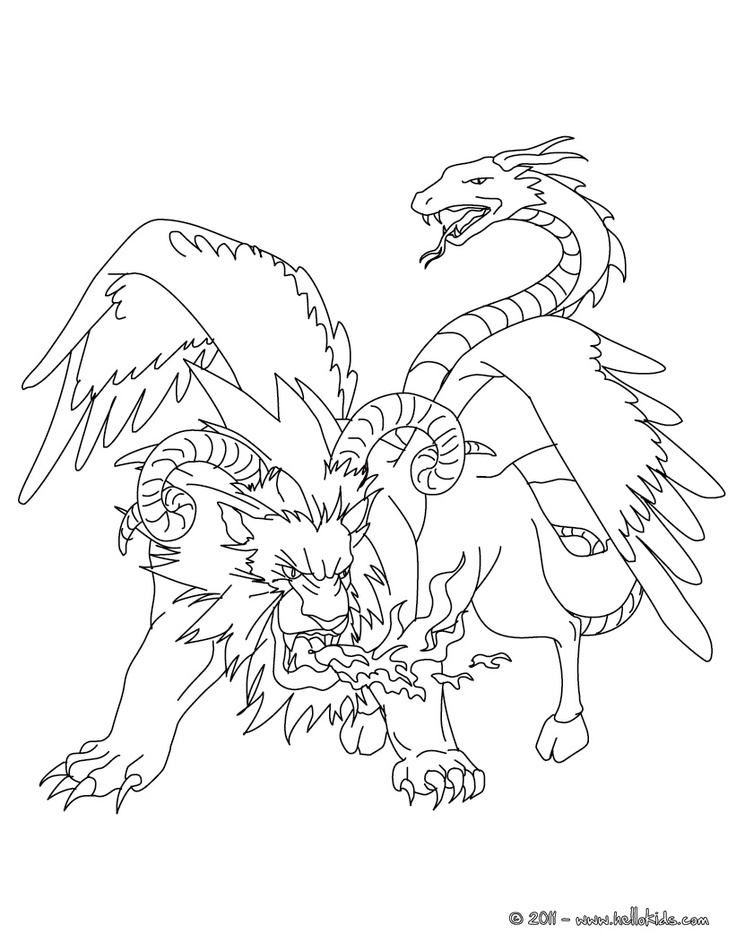736x951 Mythological Creatures Coloring Pages Download And Print For Free