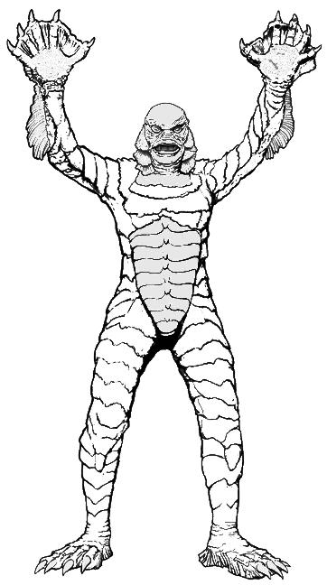 universal movie coloring pages | Creature From The Black Lagoon Coloring Pages at ...