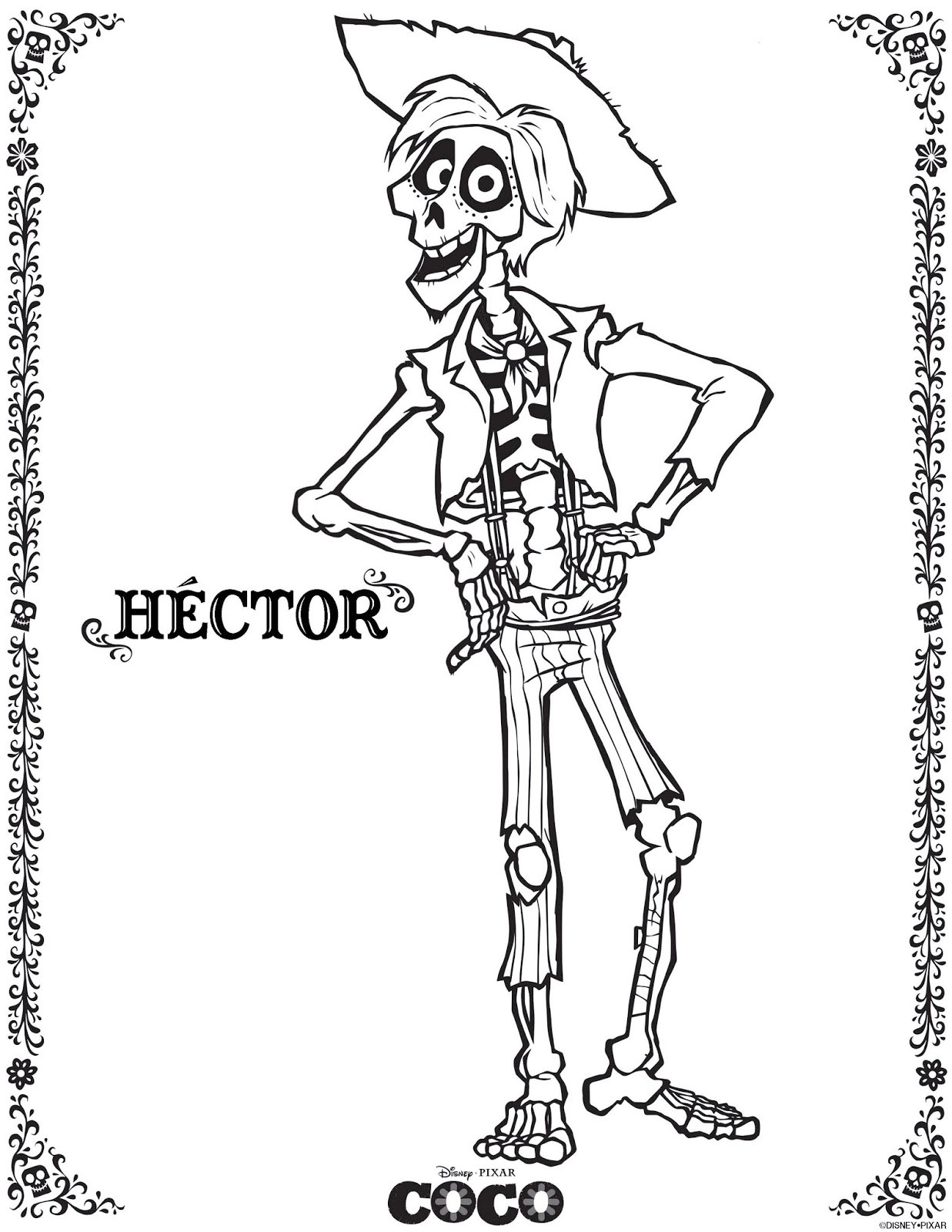1237x1600 Coco Coloring Pages