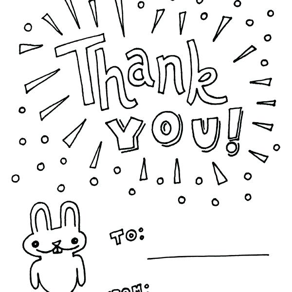 600x600 Luxury Thank You Card Coloring Page Or Thank You Cards Coloring