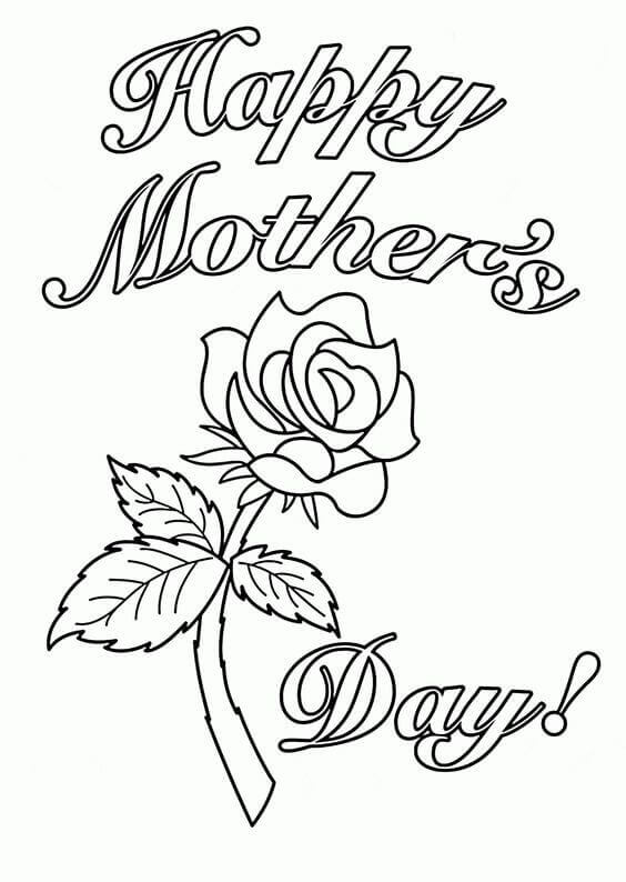564x794 Free Printable Mother's Day Coloring Pages