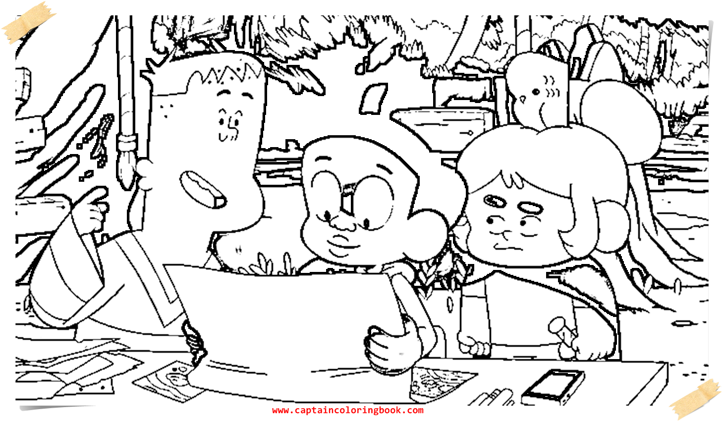1461x850 Craig Of The Creek Coloring Page Printable