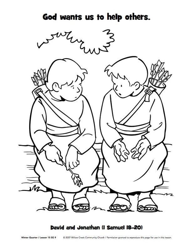 617x800 Jonathan And David Bible Coloring Pages