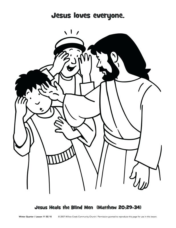 618x800 Spectacular Jesus Heals The Blind Man Coloring Page