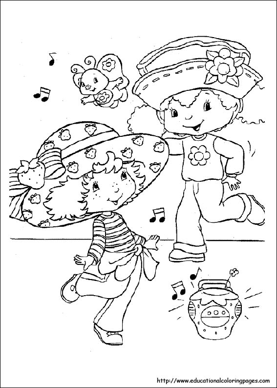 567x794 Strawberry Shortcake Coloring Pages Free For Kids