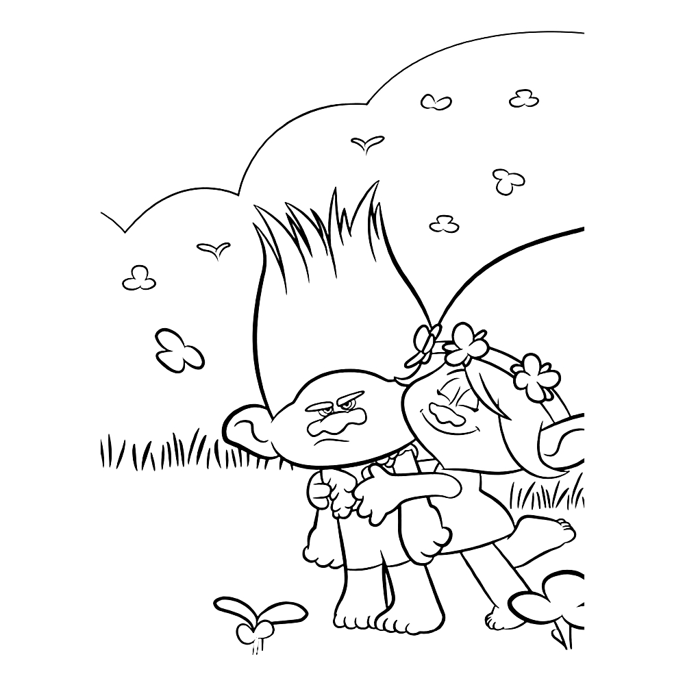 1000x1000 Trolls Coloring Pages Poppy And Creek Book Videos For Endearing