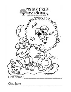 236x306 Coloring Pages Pin Oak Creek Rv Park