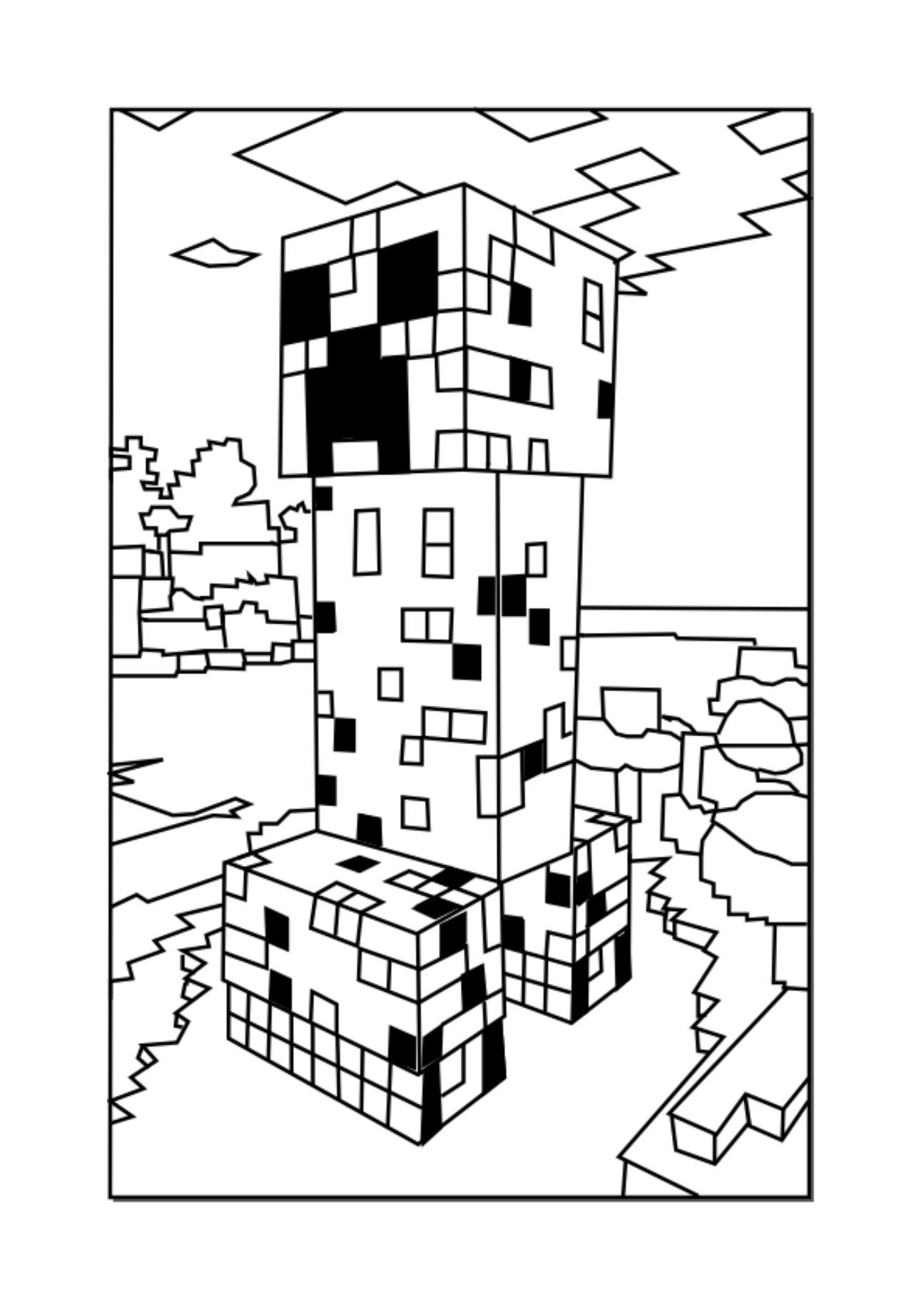 1295x1832 Minecraft Coloring Pages Minecraft Creeper Download Of Minecraft