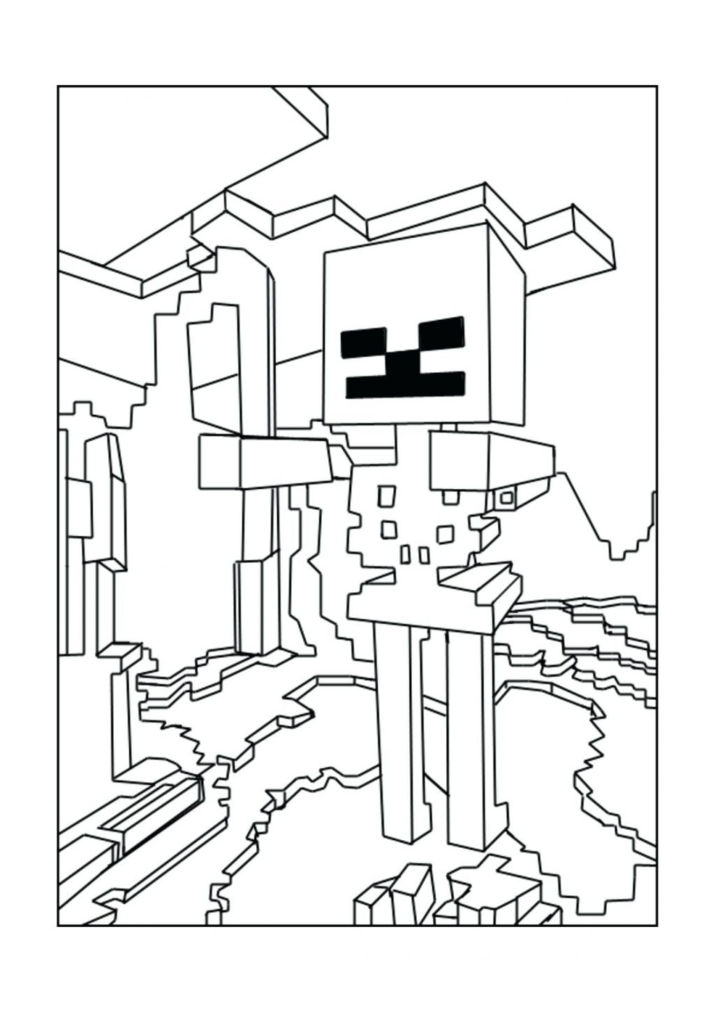 1024x1449 Minecraft Coloring Pages Mutant Creeper