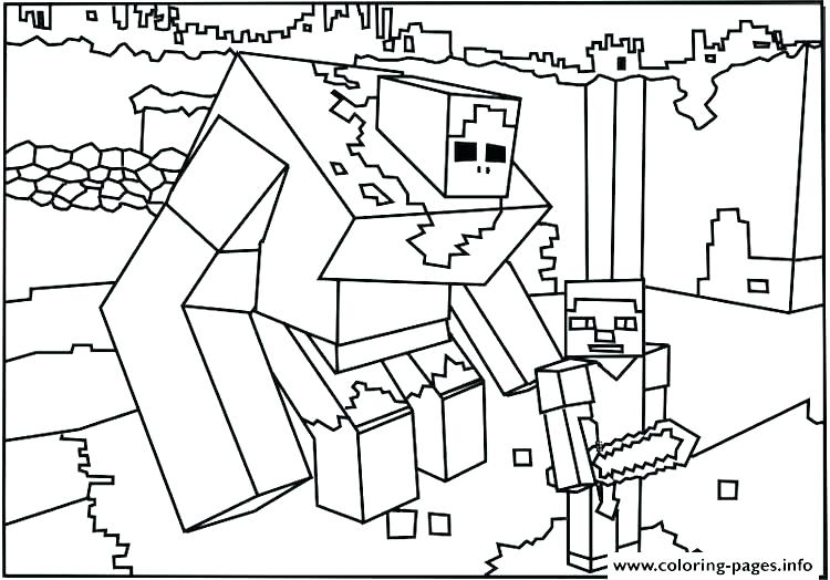 750x524 Minecraft Creeper Coloring Page Color Pages Coloring Pages Free