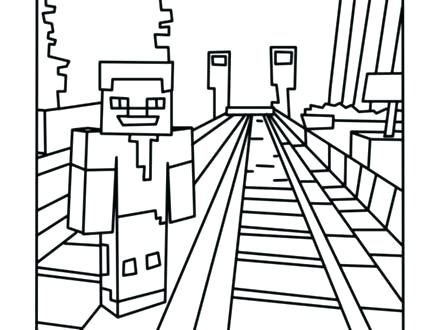 440x330 Minecraft Creeper Printable Coloring Pages Books Together