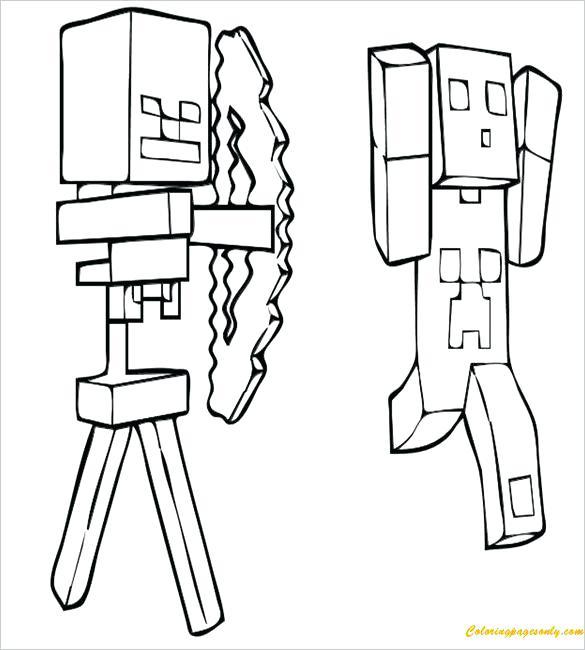 585x650 Paginas De Color Minecraft Creeper Coloring Page Coloring Pages