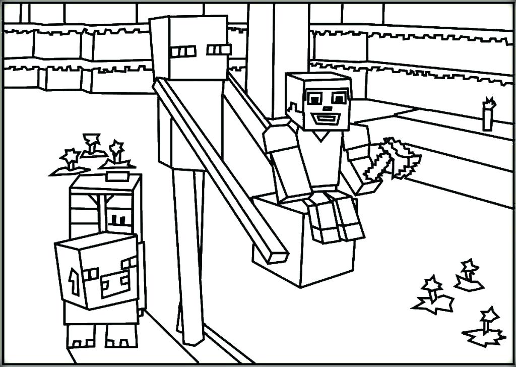 1024x728 Printable Minecraft Coloring Pages Coloring Pages For Coloring