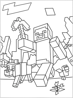 255x340 Printable Minecraft Games Creeper Coloring Page Minecraft
