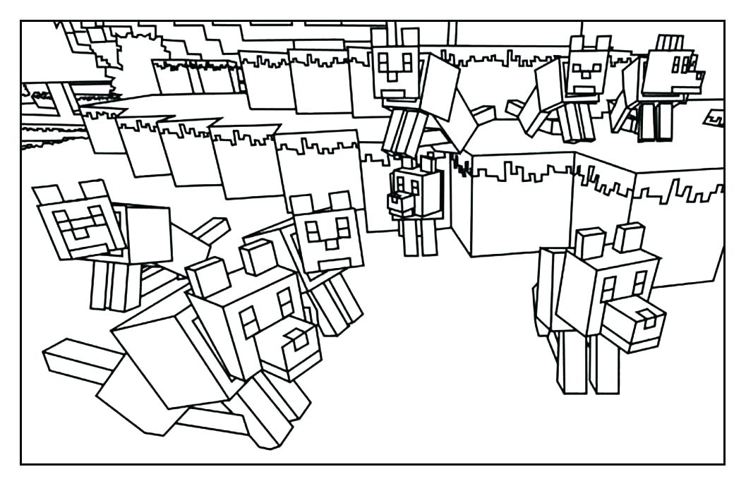 1057x689 Minecraft Mutant Creeper Coloring Pages Professional