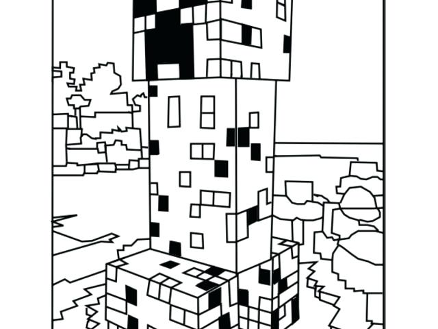 640x480 Coloring Pages For Minecraft Coloring Pages Creeper Coloring