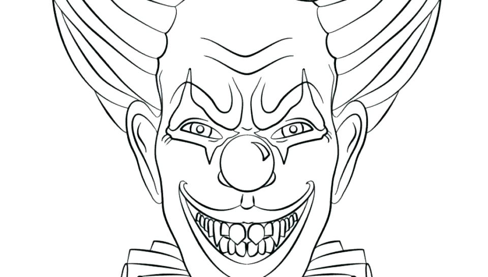 Creepy Clown Coloring Pages At Getdrawings Free Download