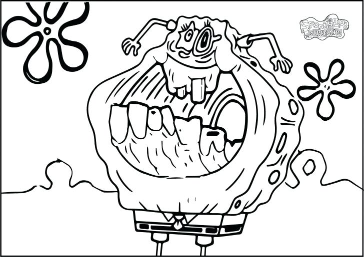 728x515 Creepy Coloring Pages Scary Monster Coloring Pages Creepy Coloring