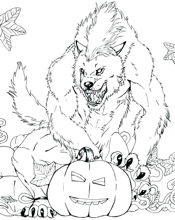 600x752 Realistic Werewolf Coloring Realistic Werewolf Coloring Pages