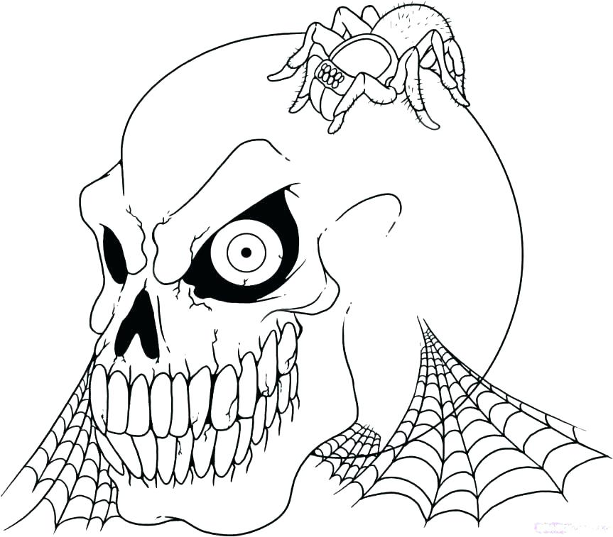 Creepy Halloween Coloring Pages at GetDrawings | Free download