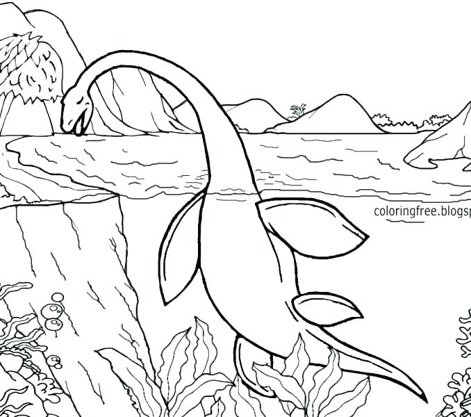 678x600 Monster Coloring Pages Scary Monster Coloring Pages Sea Monster