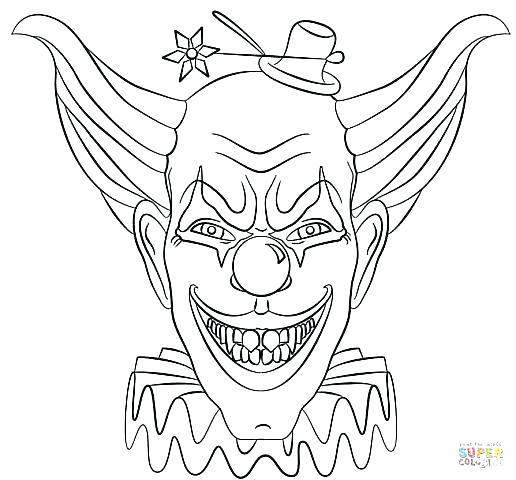 516x480 Scary Coloring Pages Scary Coloring Pages Free Scary Clown