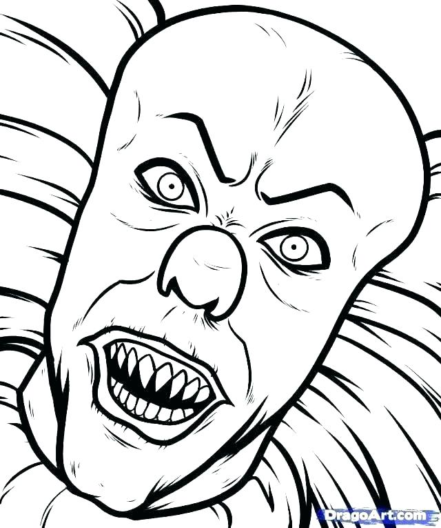 Creepy Monster Coloring Pages At Getdrawings Com Free For Personal