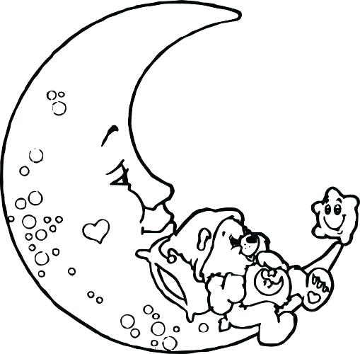 509x500 Crescent Moon Coloring Page Crescent Moon Coloring Page Medium