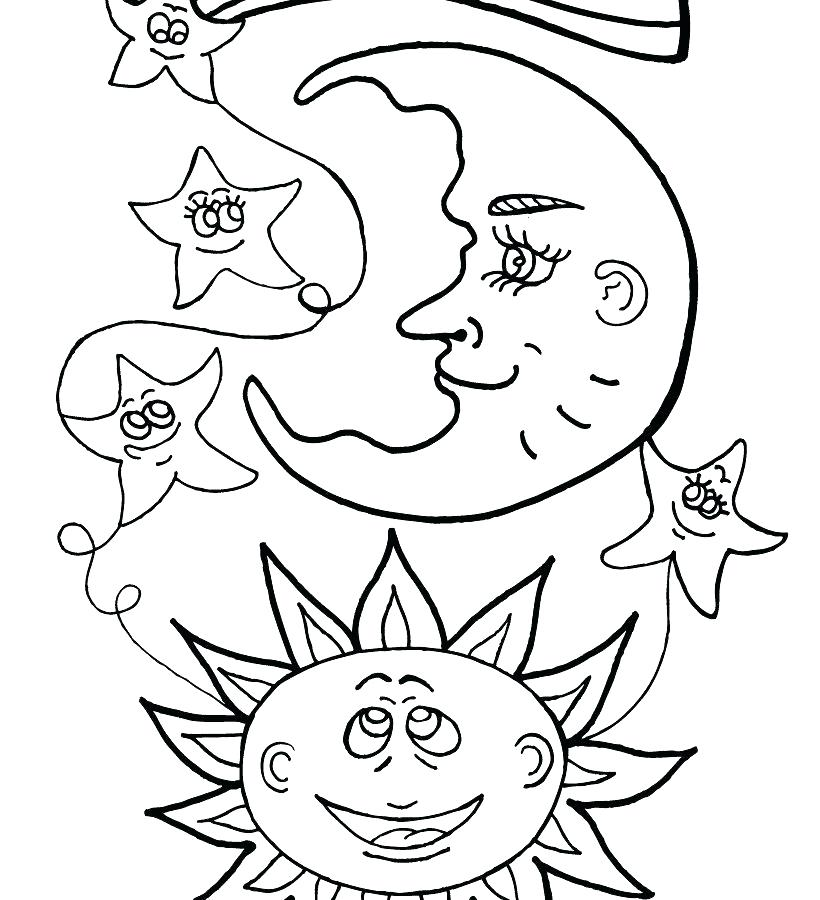 820x900 Crescent Moon Coloring Page Gallery Of Sun Moon And Stars Coloring