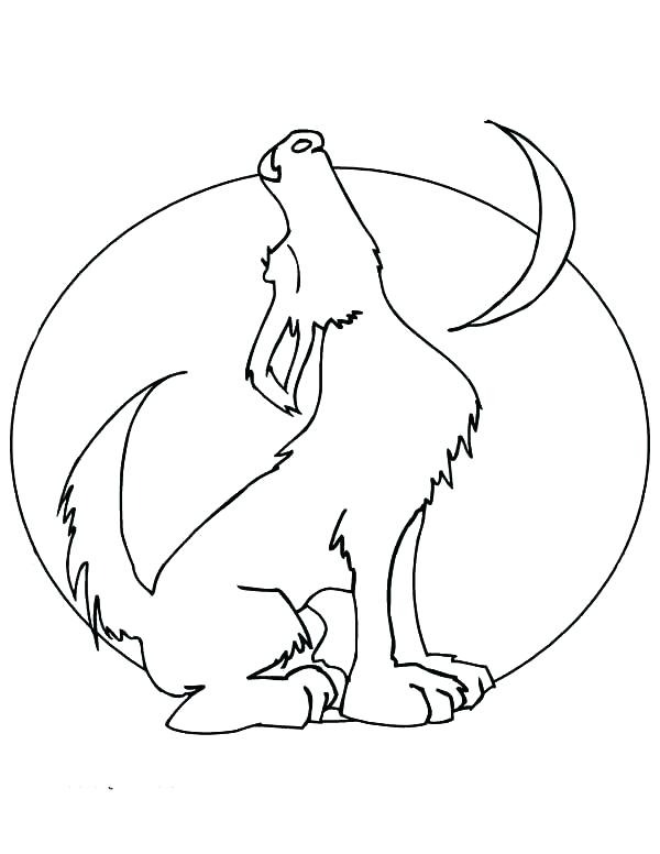 600x776 Crescent Moon Coloring Page Moon Coloring Page Howling Wolf