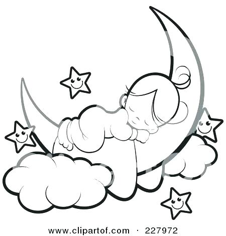 450x470 Angel Coloring Pages Coloring Pages Of The Moon Crescent Moon