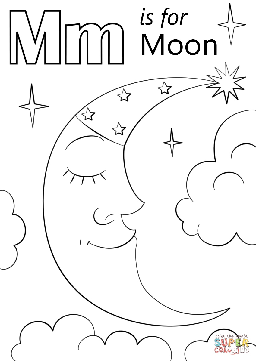 Crescent Moon Coloring Page At Getdrawings Com Free For Personal