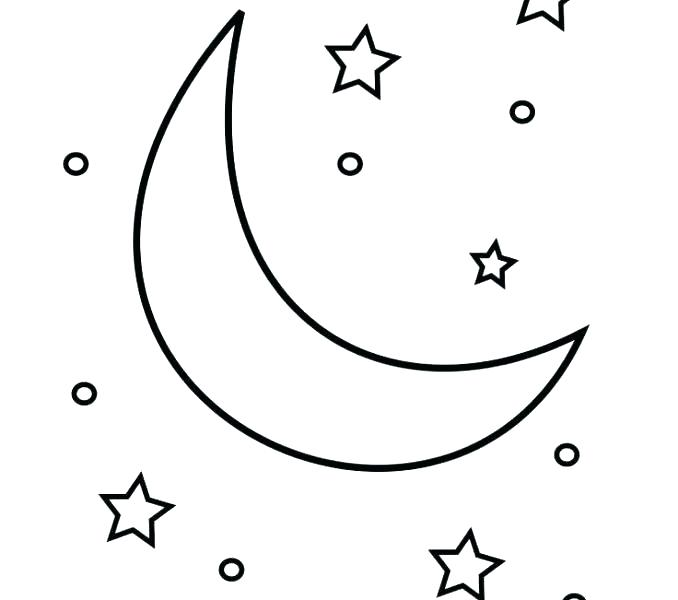 678x600 Shooting Star Coloring Page Stars Coloring Page Crescent Moon