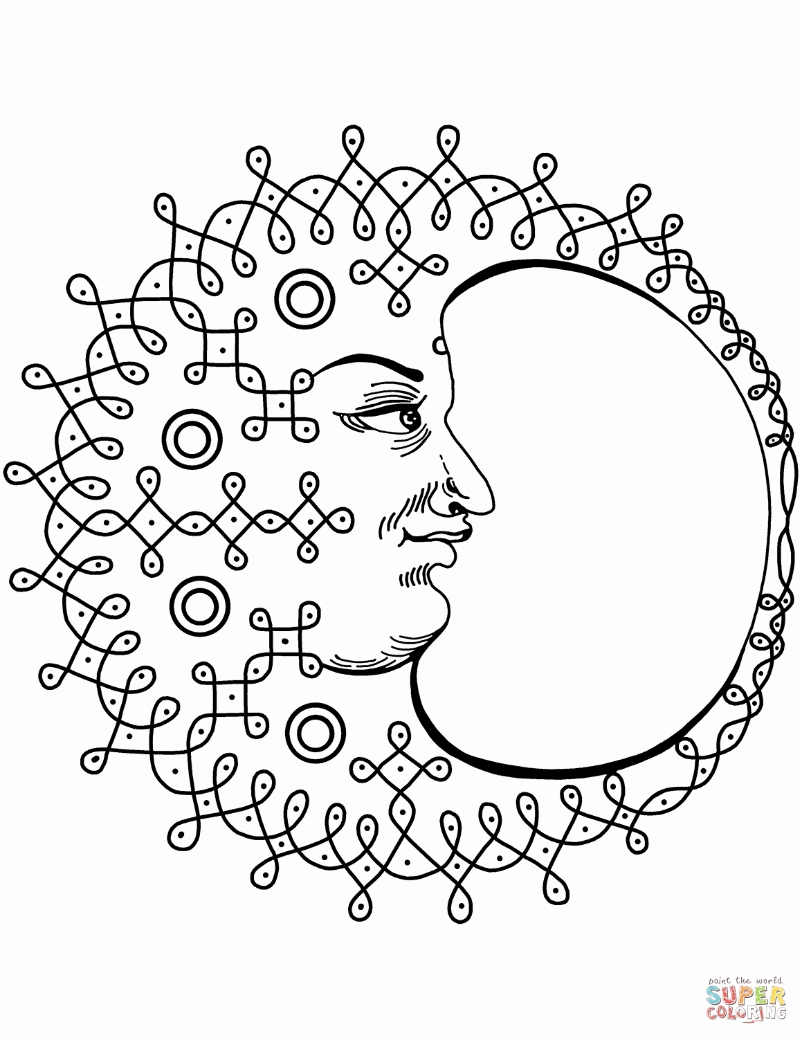 1159x1500 Sun And Moon Coloring Pages Best Of Awesome Crescent Moon