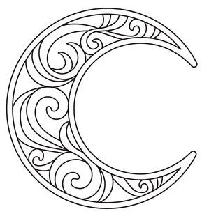 299x310 Crescent Moon Coloring Page