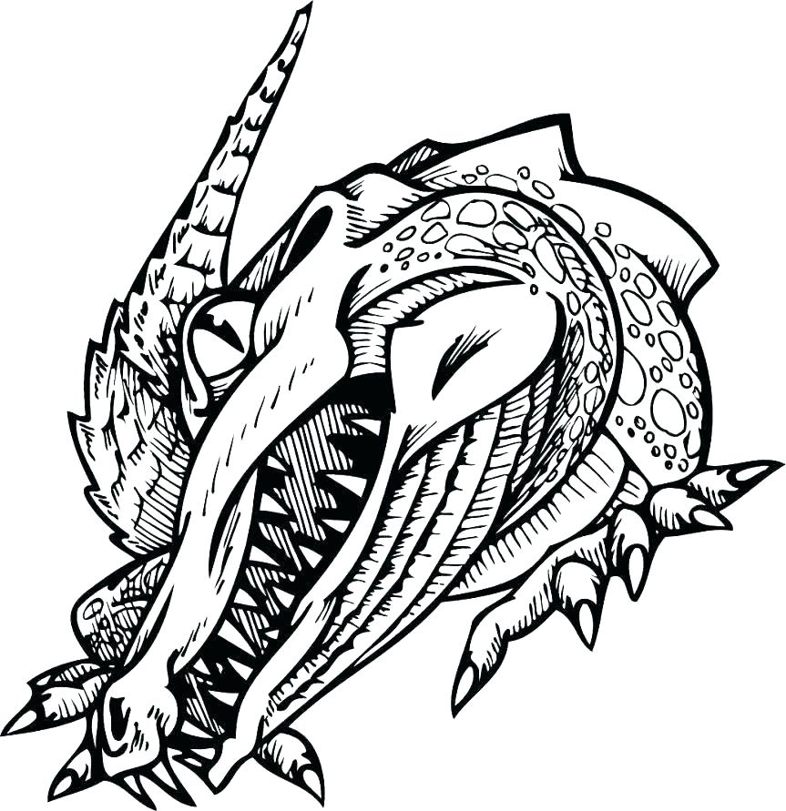 Croc Coloring Pages at GetDrawings | Free download
