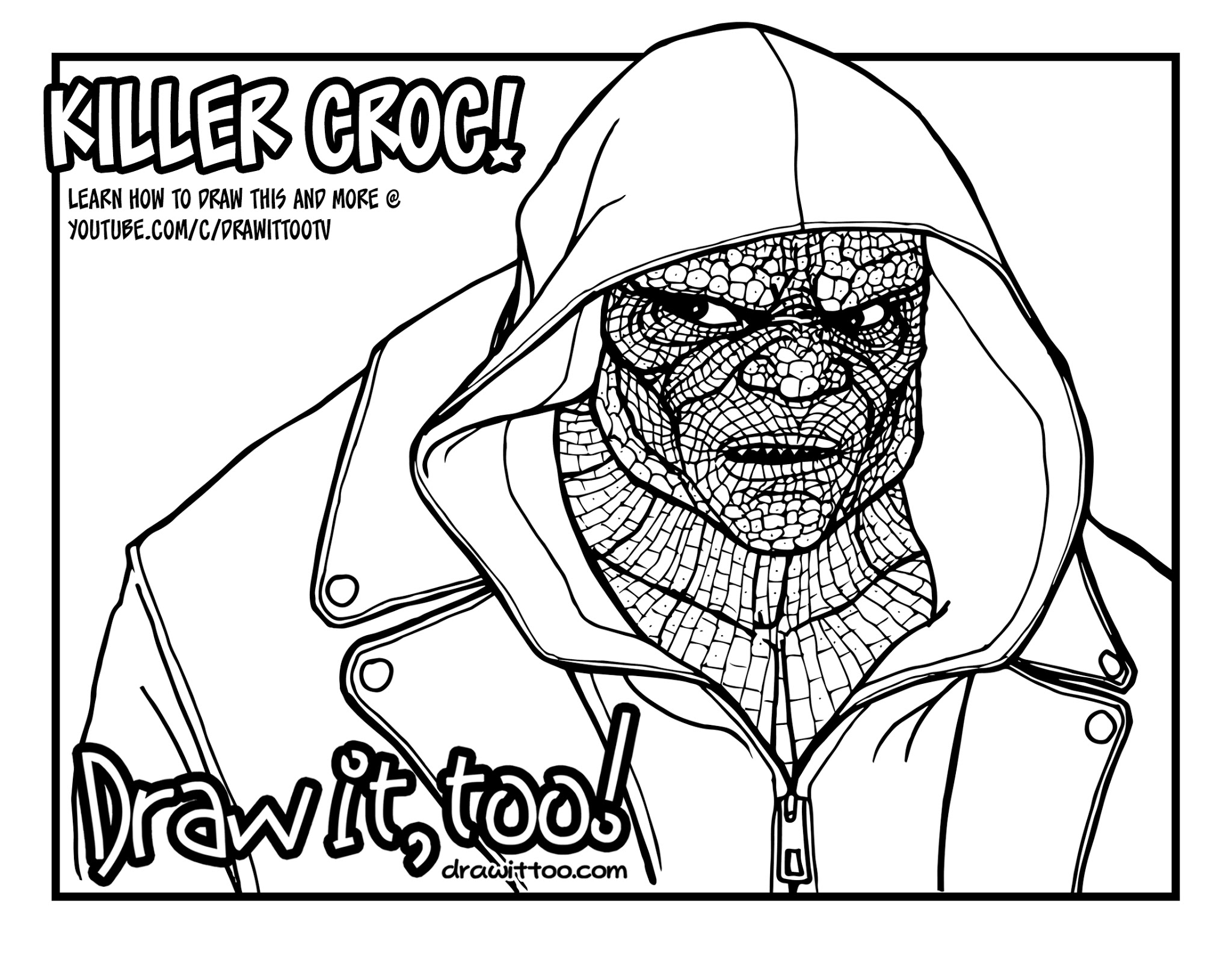 Crocodile hunter coloring pages ~ Crocodile Coloring Pages For Kids at GetDrawings.com ...