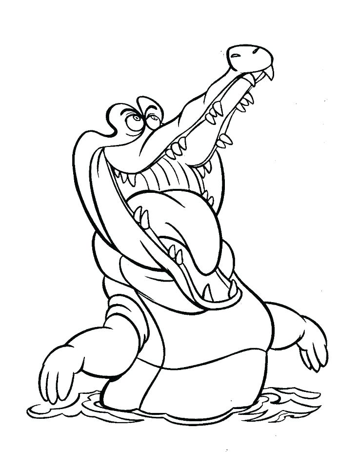 736x926 Coloring Pages Peter Pan Crocodile Color Pages Peter Pan Coloring
