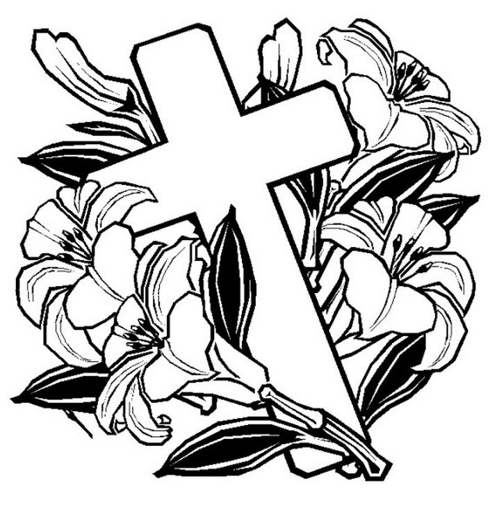 Cross Adult Coloring Pages