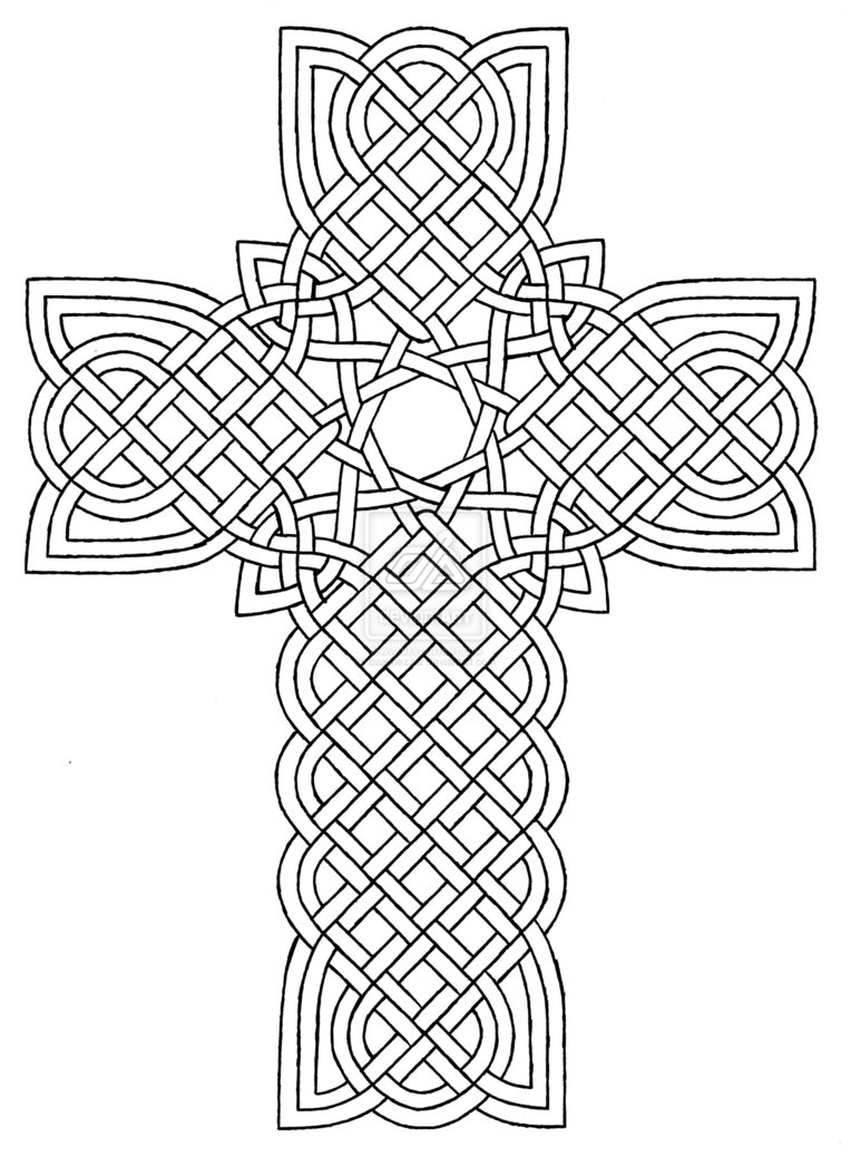 764x1046 Coloring Pages Crosses Designs Celtic Cross Design