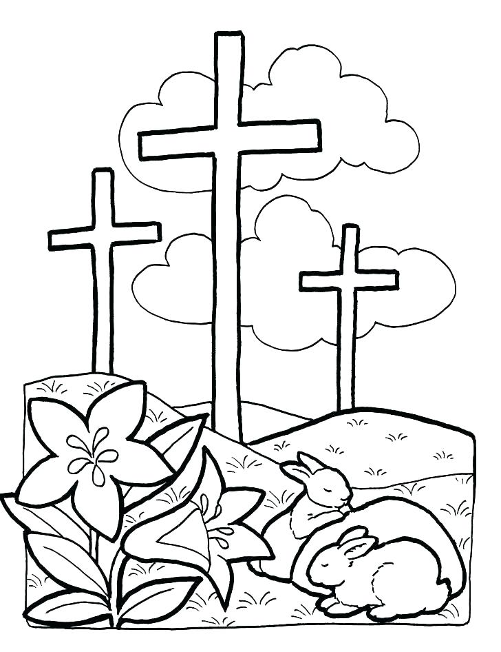 728x946 Cross Coloring Pages Printable Cross Coloring Page On The Cross