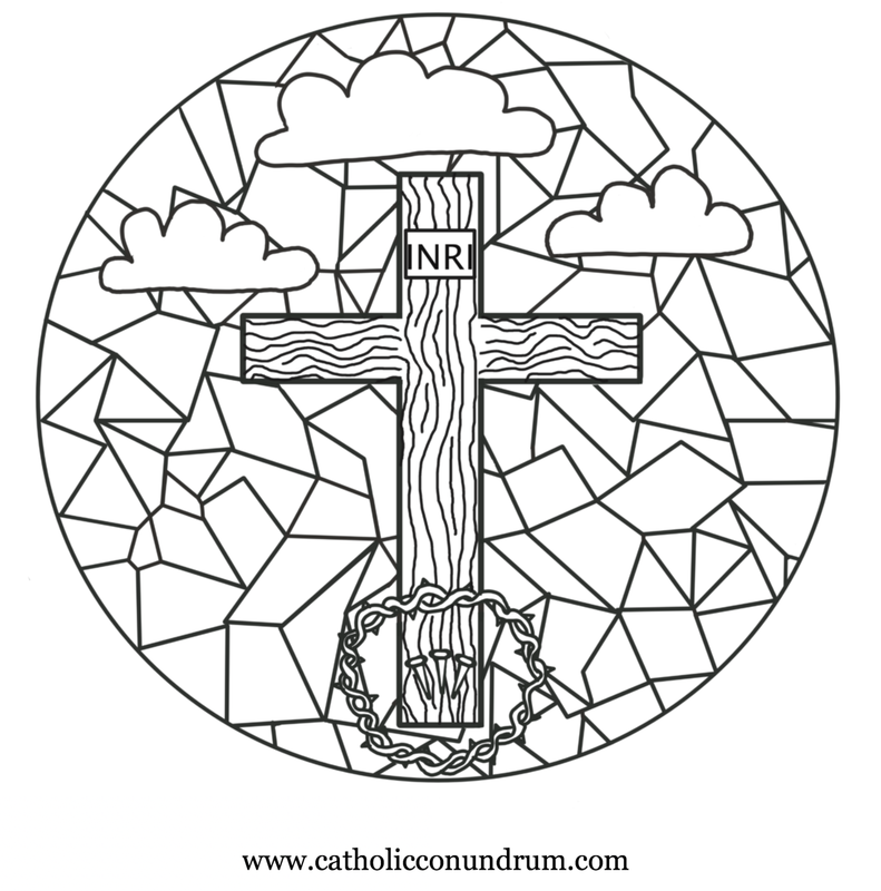 791x800 Free Good Friday Stations Of The Cross Adult Coloring Page