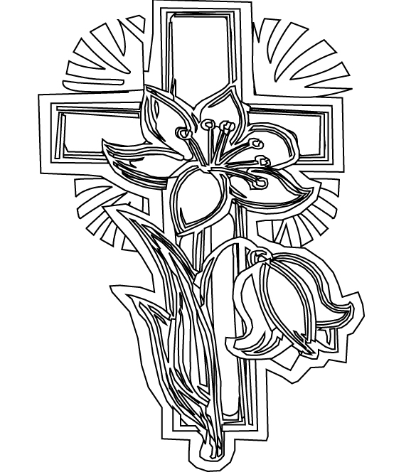 585x664 Printable Cross Coloring Pages Sunday School Adult