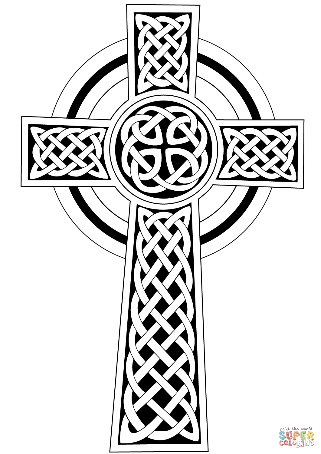 1061x1500 Adult Coloring Pages Celtic Cross Free
