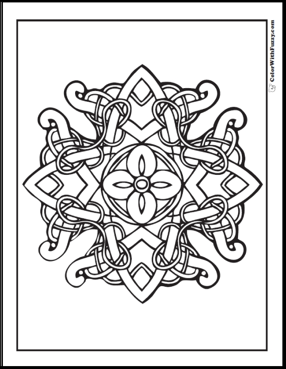 590x762 Adult Coloring Pages Cross Patterns Free