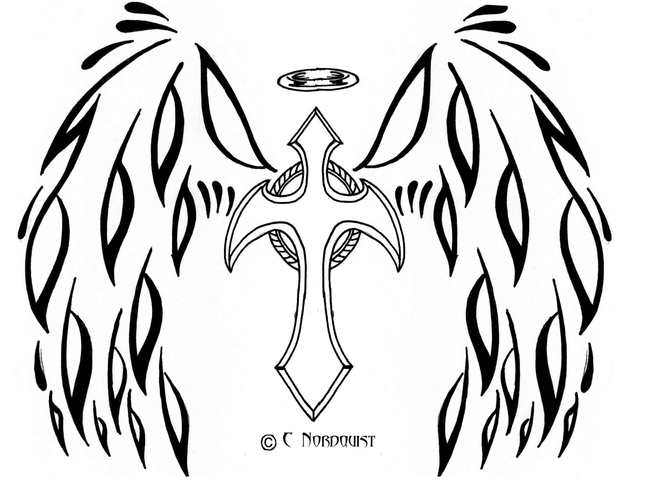 Cross And Heart Coloring Pages
