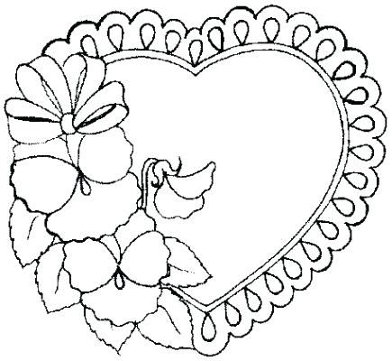 435x400 Heart Coloring Page Printable Hearts Coloring Pages Kids Coloring